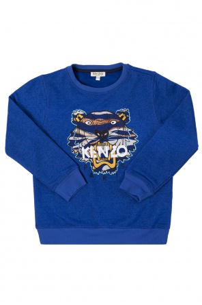 Tiger head-embroidered sweatshirt od Kenzo Kids