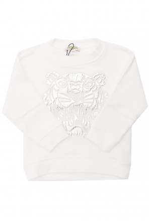 Embroidered tiger head sweatshirt od Kenzo Kids