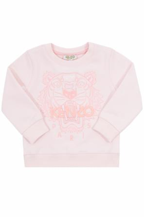 Sweatshirt with an embroidered tiger head od Kenzo Kids