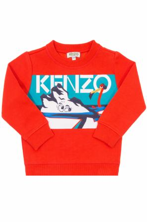 Sweatshirt with a print od Kenzo Kids