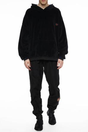 Hooded velour sweatshirt od Yeezy
