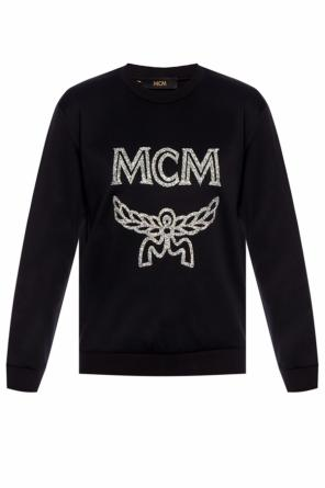 Embellished sweatshirt with logo od MCM