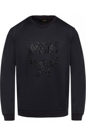 Sweatshirt with encrusted logo od MCM