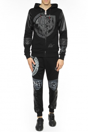 Sweatshirt with quilted inserts od Plein Sport