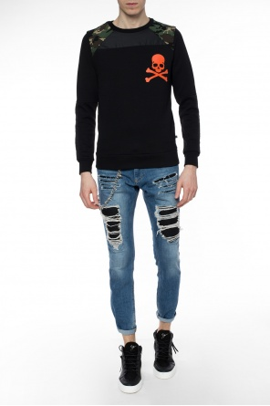 Sweatshirt with camo inserts od Philipp Plein
