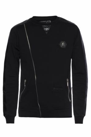 Sweatshirt with metal logo od Philipp Plein