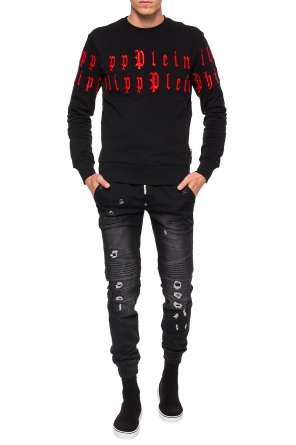 Logo-embroidered sweatshirt od Philipp Plein