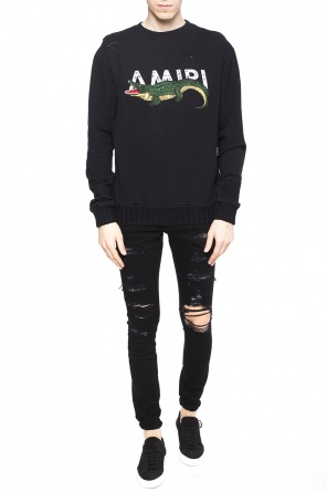 Patched sweatshirt od Amiri