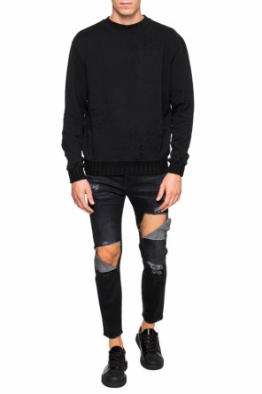 Sweatshirt with holes od Amiri