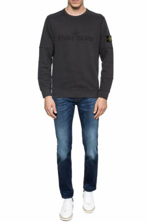 Logo-embroidered sweatshirt od Stone Island