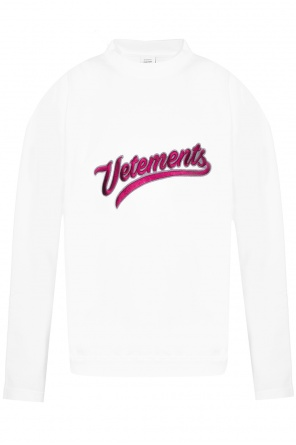 Sweatshirt with embroidered logo od Vetements