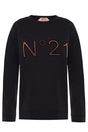 Logo-embroidered sweatshirt od N21