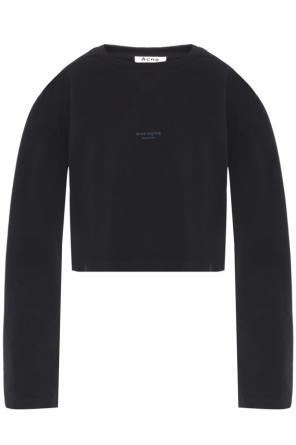 Cropped printed sweatshirt od Acne