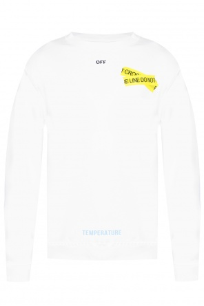 Sweatshirt with printed lettering od Off White