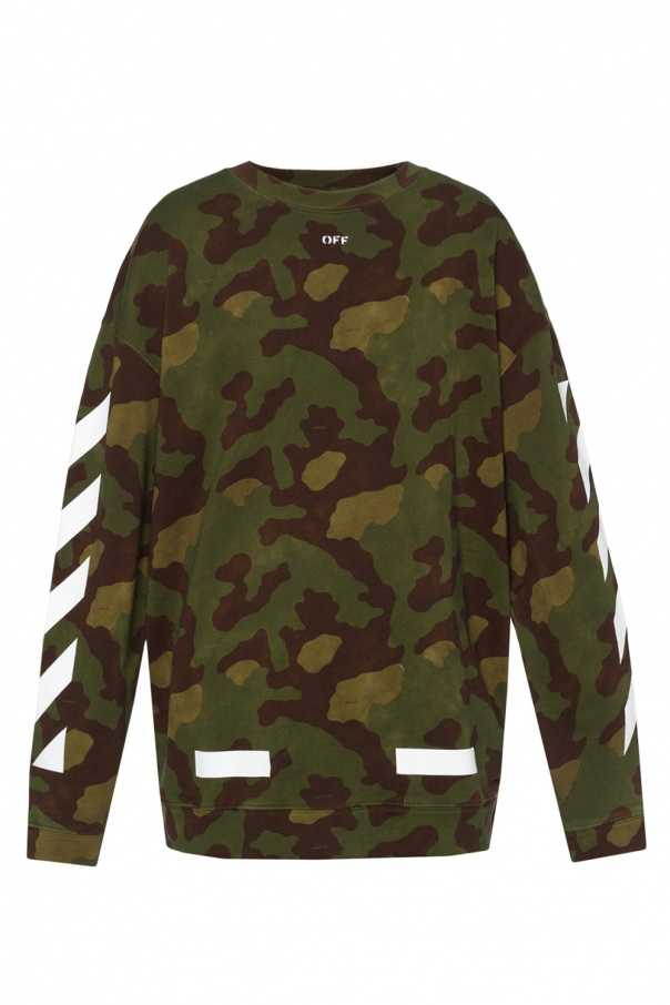 Camo Sweatshirt Off White Vitkac Shop Online