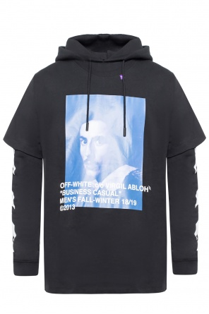 Sweatshirt with connecting t-shirt od Off White