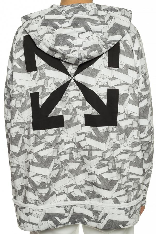 Patterned hooded sweatshirt od Off-White