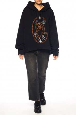 Asymmetrical sweatshirt with bear od Acne