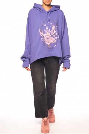 Asymmetrical sweatshirt with moose od Acne