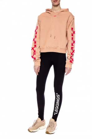 Cropped printed sweatshirt od Off White
