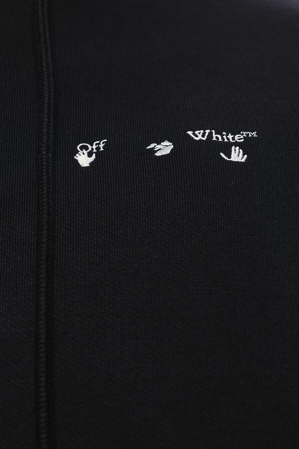 Off-White Logo-embroidered hoodie