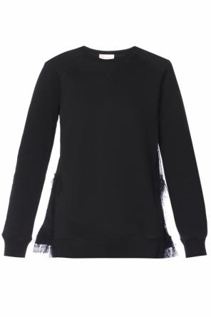 Sheer-trim sweatshirt od Valentino Red
