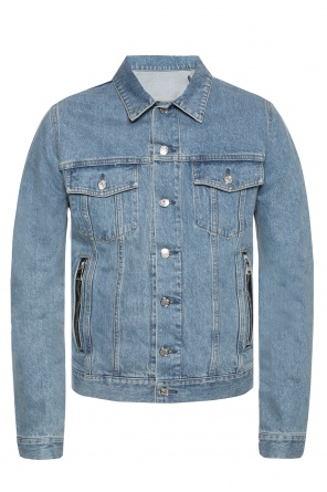Denim jacket with logo pattern od Balmain