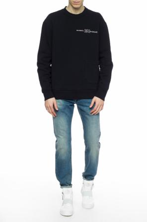 Embroidered oversize sweatshirt od Diesel