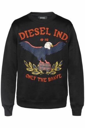 Sweatshirt with embroidery and print od Diesel