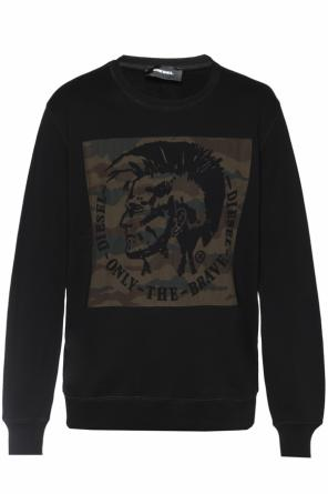 Patched sweatshirt od Diesel