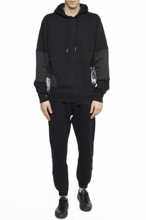 Sweatshirt with fabric inserts od Diesel