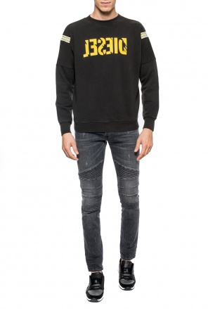Sweatshirt with velvet logo od Diesel