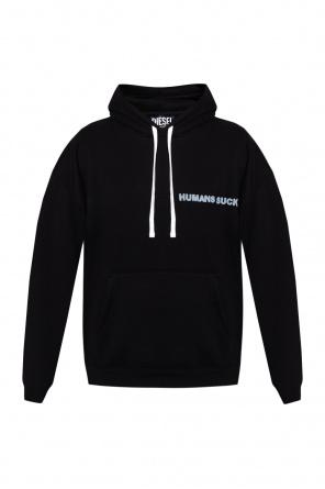 Printed insulated hoodie od Diesel
