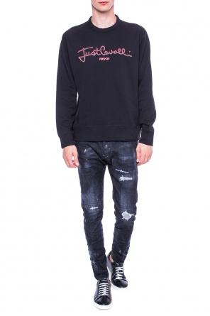 Logo-embroidered sweatshirt od Just Cavalli