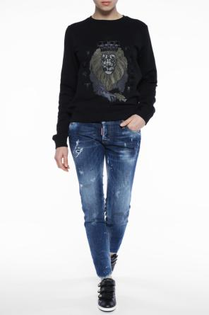 Lion motif sweatshirt od Just Cavalli