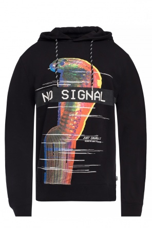 Sweatshirt with a print and a logo od Just Cavalli
