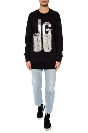 Fringed sweatshirt od Just Cavalli