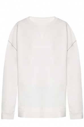 Sweatshirt with decorative stitching od MM6 Maison Margiela