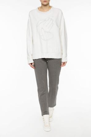 Printed two-layered sweatshirt od MM6 Maison Margiela
