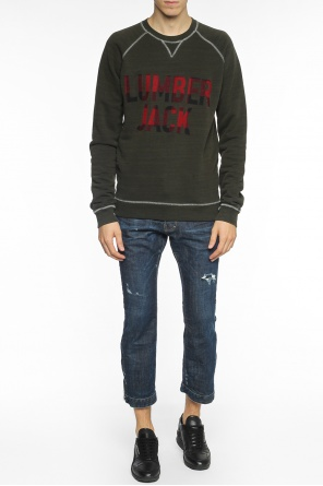 Checked-inscription sweatshirt od Dsquared2
