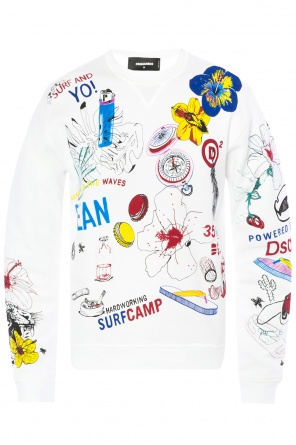 Colourful-printed sweatshirt od Dsquared2
