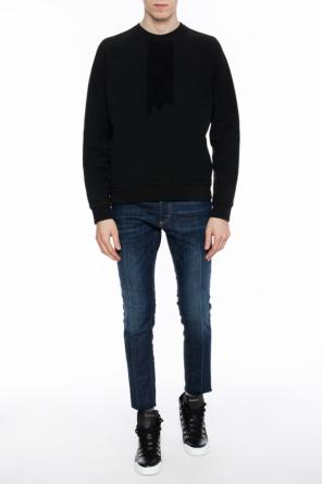 Sheer applique sweatshirt od Dsquared2
