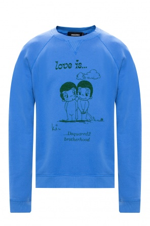 Printed sweatshirt od Dsquared2