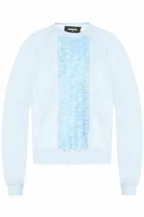 Asymmetrical sweatshirt with jabot od Dsquared2