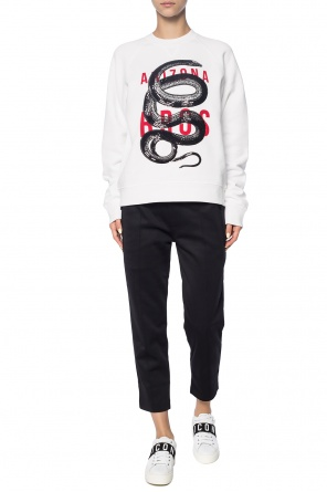 Sweatshirt with an embroidered snake motif od Dsquared2