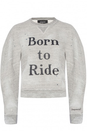 Raw edge sweatshirt od Dsquared2
