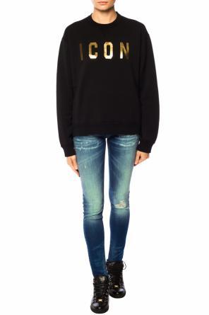 e51c5e0e7a6158 Printed lettering sweatshirt od Dsquared2 ...