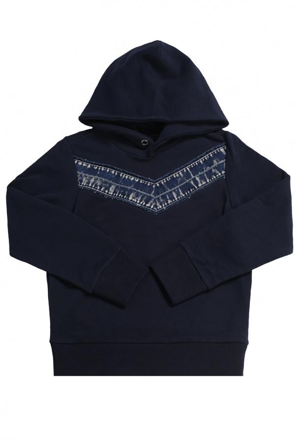Diesel Kids Sweatshirt with denim insert