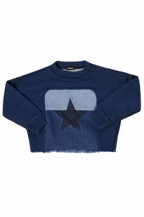 Sweatshirt with denim insert od Diesel