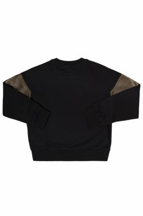Sweatshirt with quilted inserts od Diesel